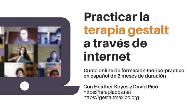 Practicar la terapia gestalt a través de internet. Curso online teórico-práctico de formación (entrenamiento).