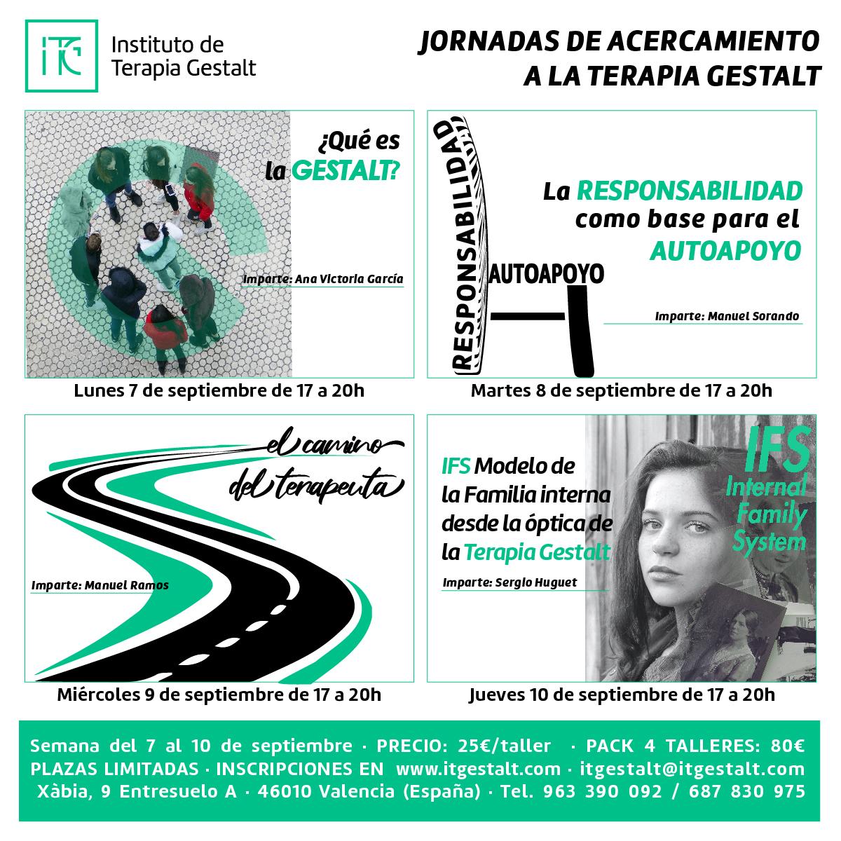 Jornadas de acercamiento a la Terapia Gestalt en el ITG de Valencia