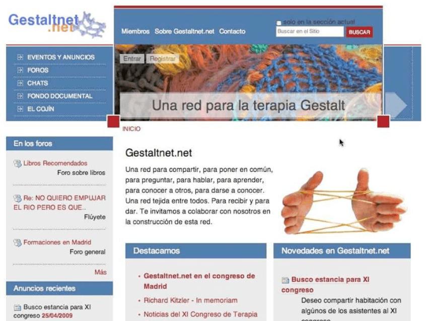 Presentación de Gestaltnet.net en el XI Congreso Gestalt