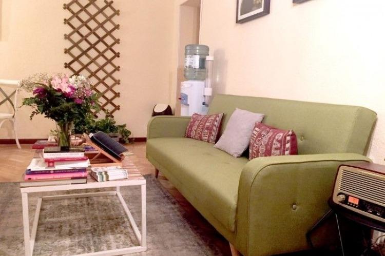 Sala de espera de el Olivo Psicoterapia Humanista