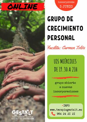Grupo de crecimiento personal: Espacio terapéutico y de crecimiento personal en grupo (3 de Junio)