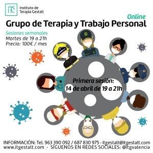 Grupo de Terapia y Trabajo personal. Personas en primera línea de defensa COVID-19