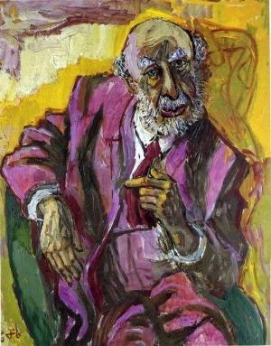 Retrato al oleo de Fritz realizado por Otto Dix